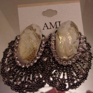 Stunning AMI Earrings NWTS.
